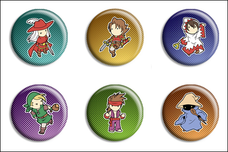 Final Fantasy Buttons by Maxx-V