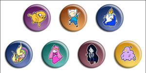 Adventure Time Buttons