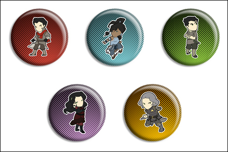 Legend of Korra Buttons by Maxx-V
