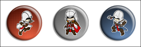 Assassin's Creed Buttons by Maxx-V