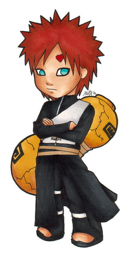 Naruto: Chibi Gaara by Maxx-V on DeviantArt Gaara And Naruto Chibi