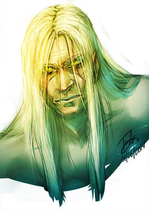 Geralt of Rivia by broseidon