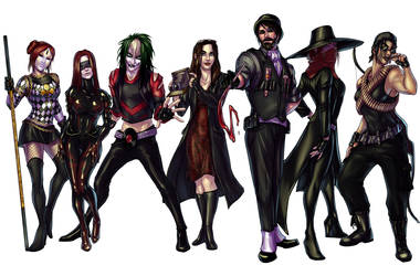 Rogues' Gallery Commission by broseidon