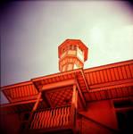 Holga - roof on fire