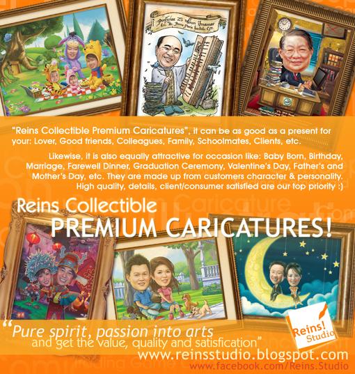 Digital Brochure Reins Premium Caricatures by Reinsstudio