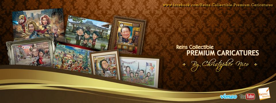 Reins Collectible Premium Caricatures by Reinsstudio