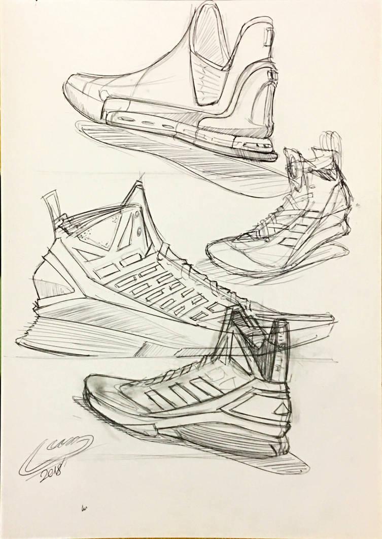 540ff278454 basketball shoe sketches by icanerdincmer on DeviantArt
