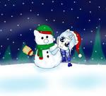 Stellar Crystal and her Snowpony Friend