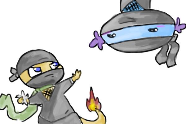 Char and Woop Ninjas by CrazyIguana