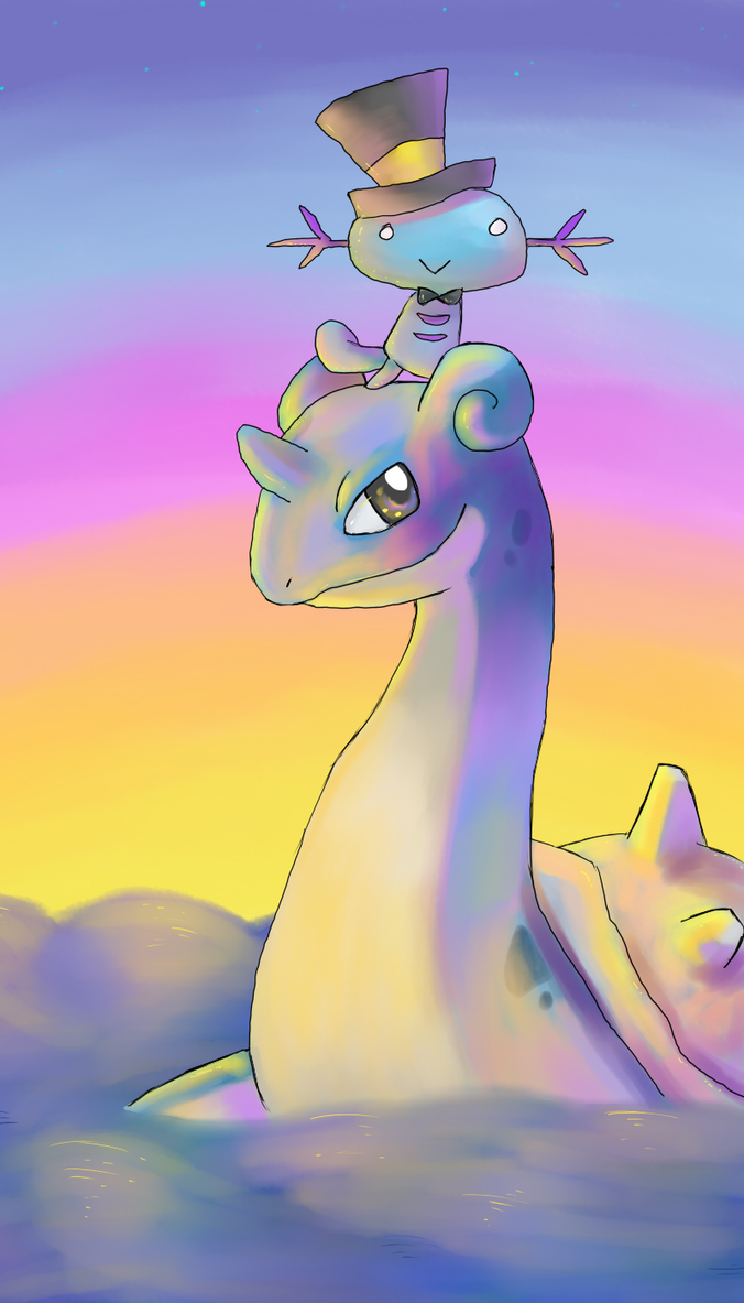Lapras and Woop by CrazyIguana