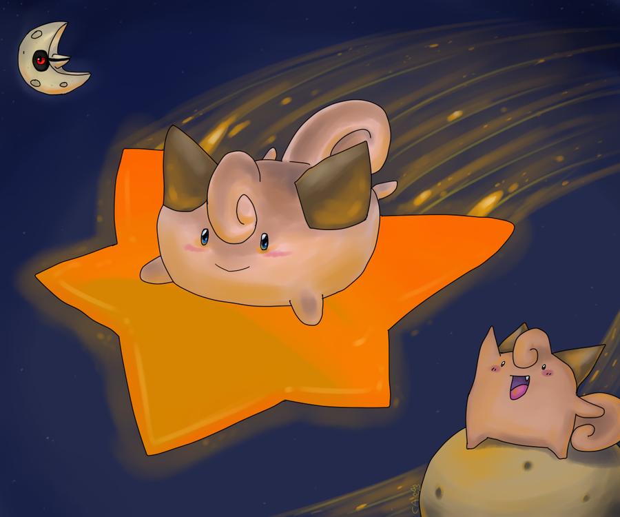 Cleffa is a Star by CrazyIguana