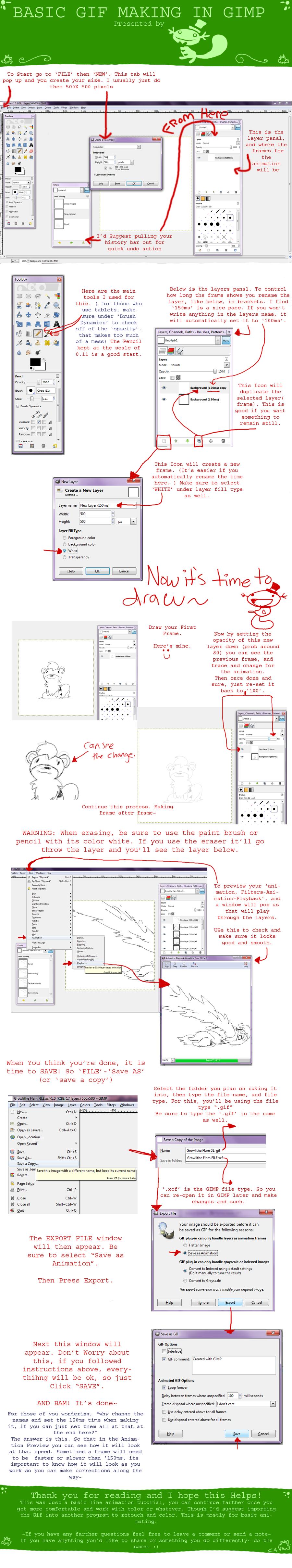 Basic GIMP Animated GIFs tutorial by CrazyIguana