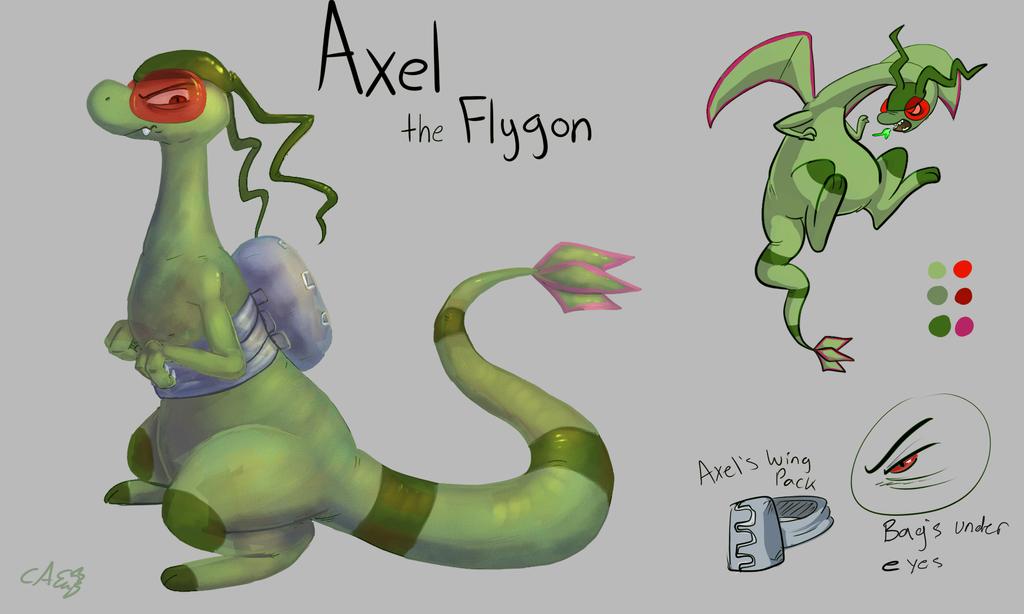 Axel the flygon Ref  by CrazyIguana