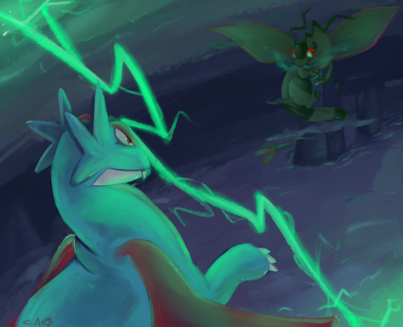 Storm Battle by CrazyIguana