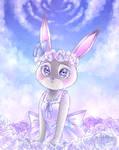 Rabbit in Rose Field