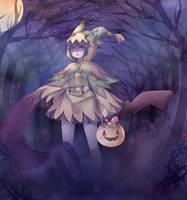 Mimikyu's Spooky Night by ScruffyPoop