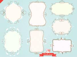 Doodle sketch frames pack