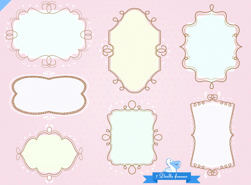 doodle sketch frames pack by picturesofpelicans on deviantart