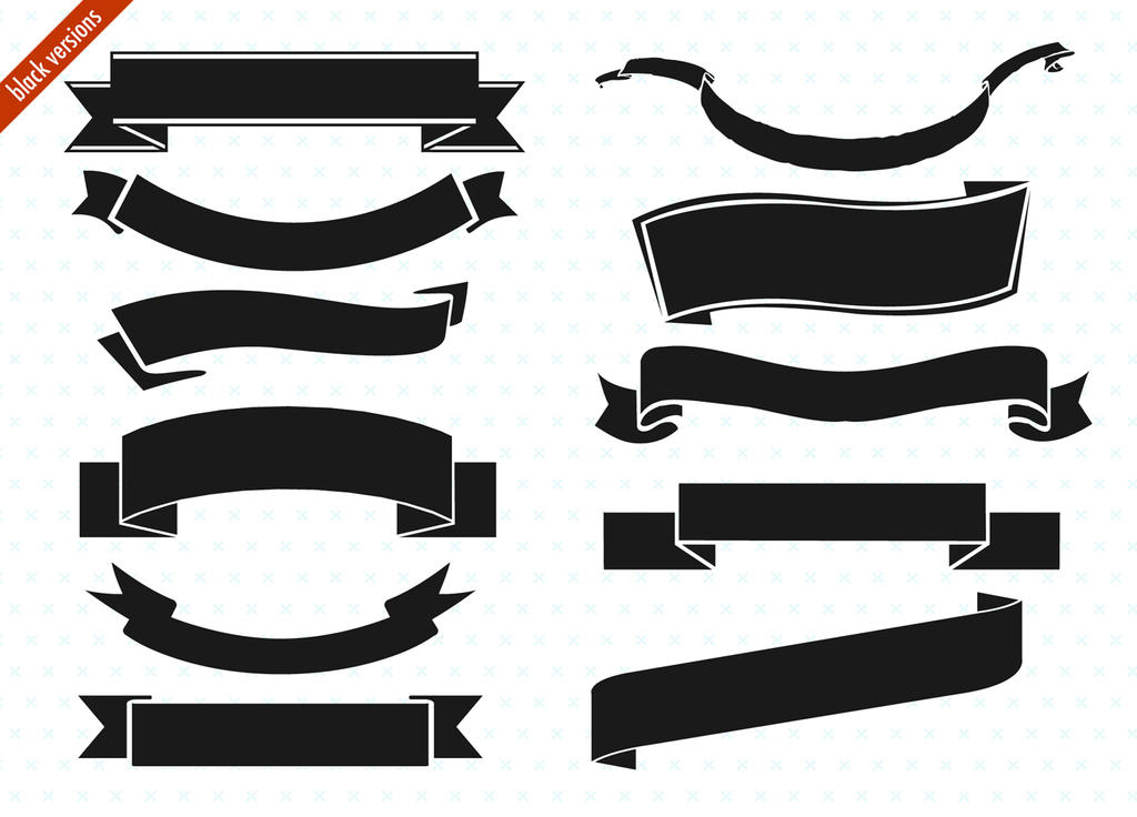ribbon banner set by picturesofpelicans on deviantart vector ribbon banner outline vector ribbon banner free download