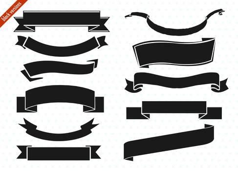 ribbon banner set