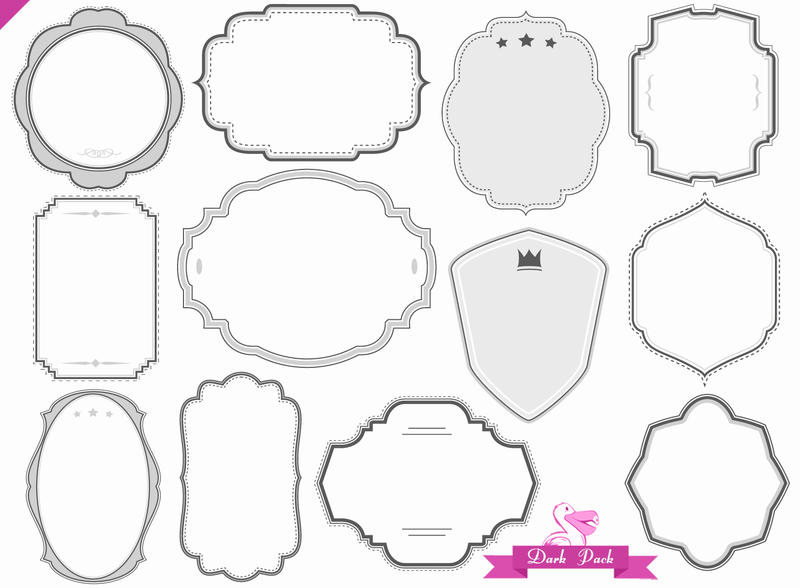 Digital frames borders pack by PicturesOfPelicans on DeviantArt