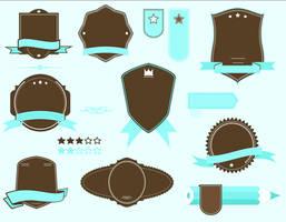 vector retro badge set 2
