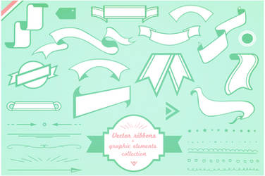ribbons vector pack by PicturesOfPelicans