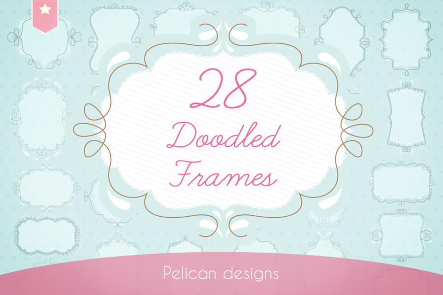 doodled frames pack by PicturesOfPelicans
