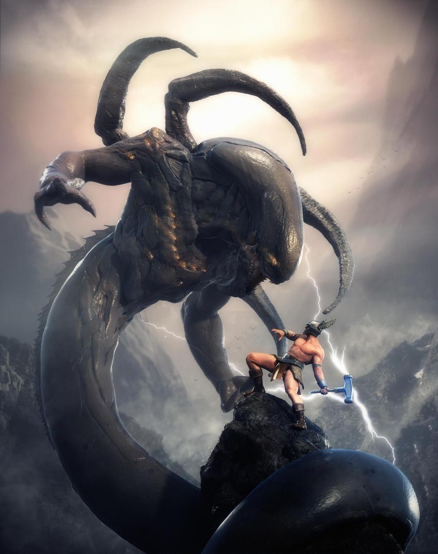 The Last Battle of Thor by Sasin on DeviantArt