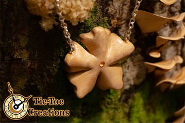 Flower Pendant with Sunrise Yellow Topaz by Tic-Toc-Creations