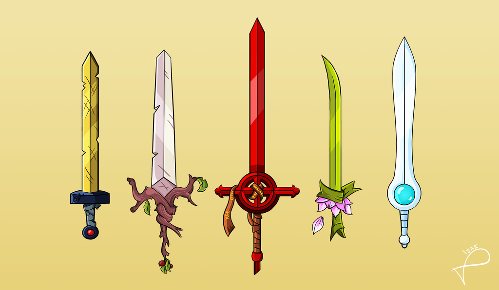 how to draw leaf bladed sword