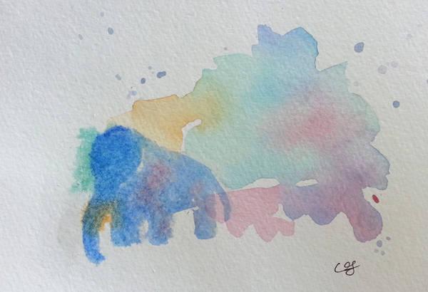 Elephant Splash by Crishf