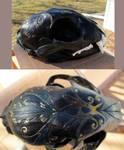For sale: painted bobcat skull