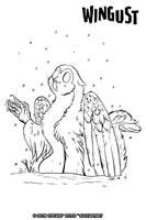 Wingust 10 - Snow by shivaesyke