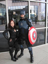Captain America and Black Widow. by philorion7