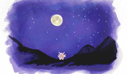 Reaching for the Moon by PoppetthePuppet101