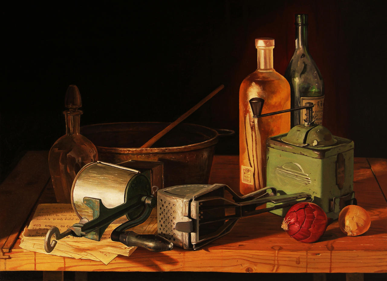 Vintage - Oil Painting Study by borda