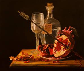 Love Slowly Kills - oil painting