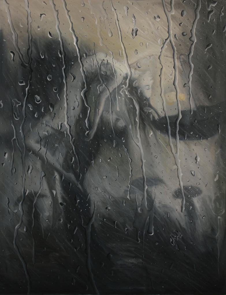 life is a dance in the rain oil painting by borda on deviantart. Black Bedroom Furniture Sets. Home Design Ideas