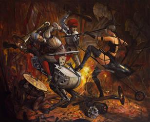 Heavy Metal Serenade With Strings - oil painting by borda