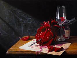 Love Slowly Kills II - oil painting