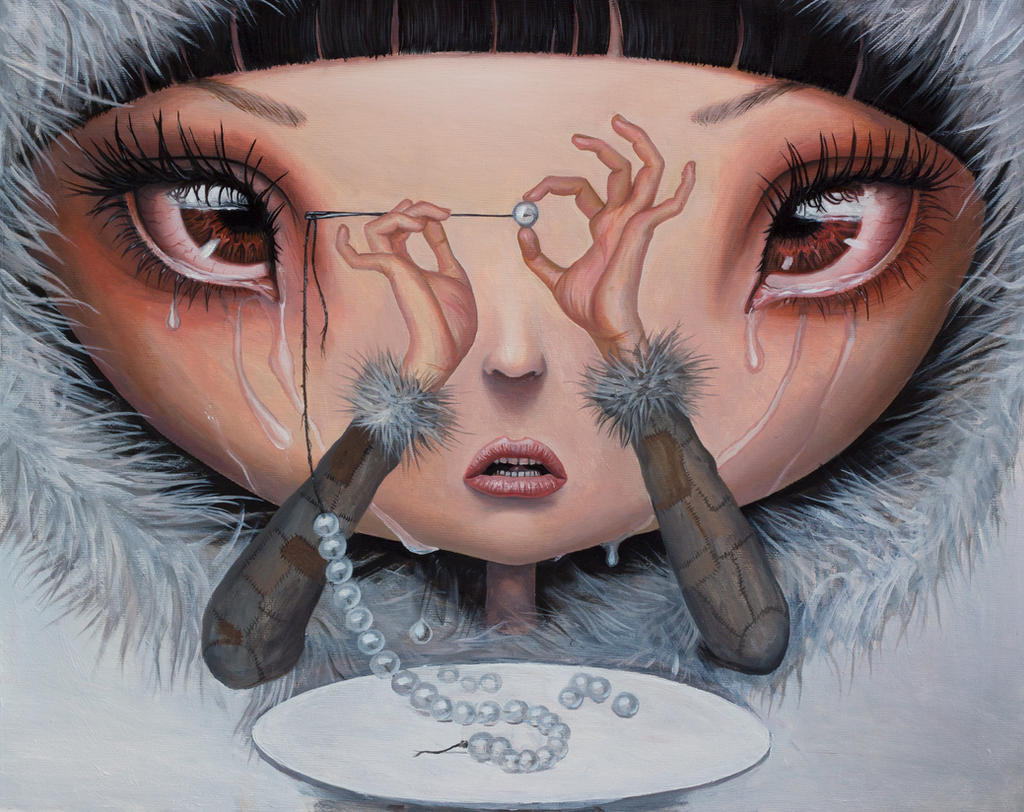 Sadness is My Single Fortune - Oil Painting by borda
