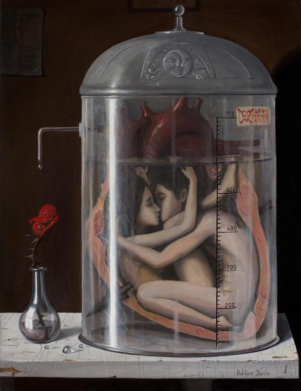 Love Slowly Kills III - oil painting by borda