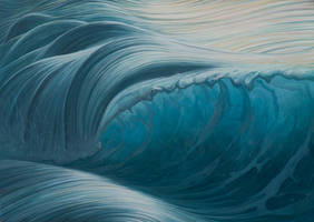 Breaking The Waves - oil painting by borda