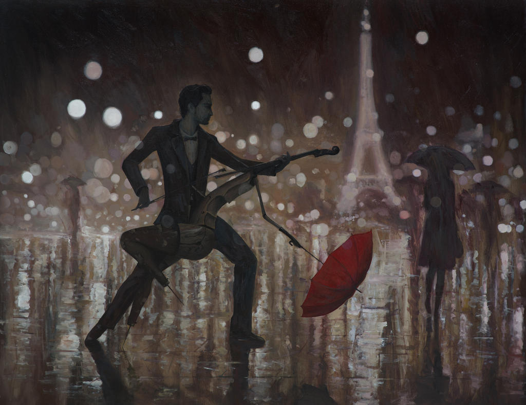 Life is A Dance in The Rain - oil painting by borda on ...