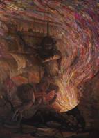 Saint George - oil painting by borda