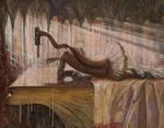 The Swan Lake - oil painting