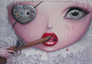 Love Slowly Kills IV - oil painting