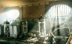 Inside a dusty old radio by borda