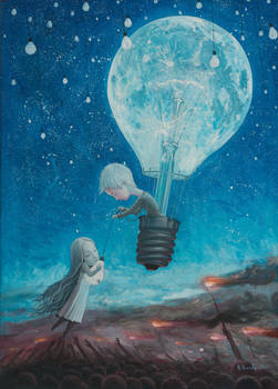 He Gave Me The Brightest Star II -oil painting
